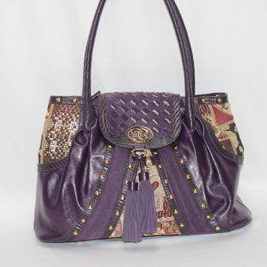 NWOT Sharif of 1827 Quilted & Purple Shoulder Bag